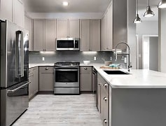 Premier Scheme Kitchen with Stainless Steel Appliances