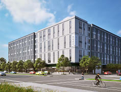 Street view of the brand-new 2424 Tulane apartments
