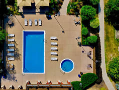 Aerial View of The Bronco Club Pool