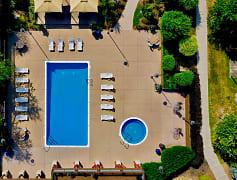 Aerial View of The Bronco Club Pool