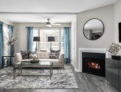 Spacious Living Room with Fireplace - Stonebridge Crossing
