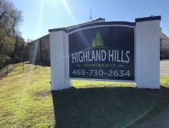 Community Signage, Highland Hills Apartments, 0