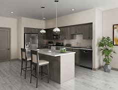 Quartz Countertops with Stainless Steel Appliances