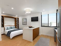 Newly Renovated Studio Apartment with Modern Finishes and a Custom Murphy Bed