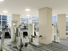 High tech, modern fitness center with the latest equipment