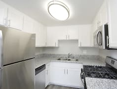 Campus Village Apartments Kitchen Counter and Appliances
