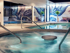 The Woodside indoor spa pools and saunas offer a place for relaxation and healing, solitude or community, featuring 5 temperature zones for complete restoration.