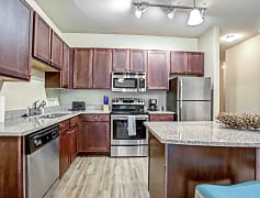 Our beautiful kitchens feature energy-efficient, stainless steel appliances, granite counter tops, shaker style cabinetry and much more!