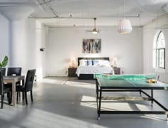 Massive 2bed 1bath...enough room for a pingpong table!