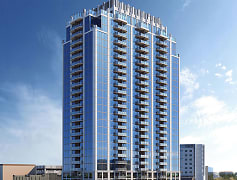 Luxury high rise apartment community located in Frisco Station