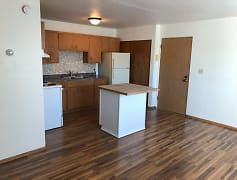 Kitchen, Courtside Apartments, 0