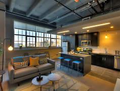 Living Area at The Boss at Roaster's Block Apartments in Kansas City, MO