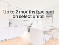 Up to 2 months free on select units!