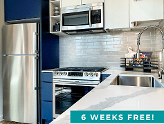 Aura Totem Lake Apartments Model Kitchen 6 Weeks Free Promo