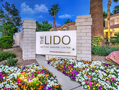 Image depicting the monument sign for The Lido Apartments.