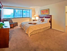 Bedroom, One Lytle Place Apartments, 0