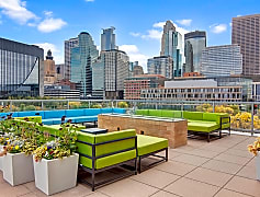222 Hennepin Outdoor Lounge with Seating