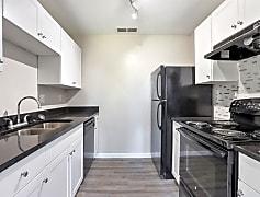 Brand new white shaker cabinets, Black Pearl luxury granite, modern backsplash, new black appliances, and much more!