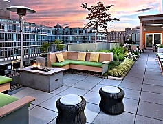 22 East Street Rooftop Terrace with Lounge Seating and Fire Pit