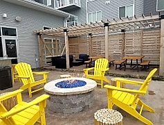 Resident Patio with Firepit and Grill!