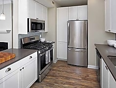 Kitchen with Stainless Steel appliances and quartz countertops