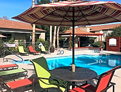 Take a dip in our resort-style swimming pool or relax in the spa after a long day.