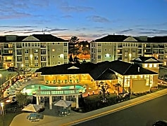 Night time view of community