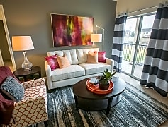 Living room at Center Point Apartments in Indianapolis, IN