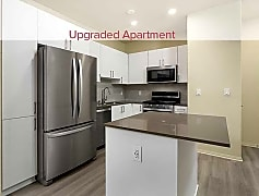 Newly renovated kitchen with stainless steel appliances (in select homes)