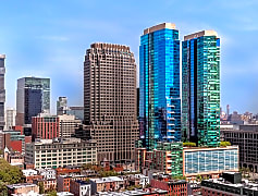70 Greene Apartments and Jersey City Skyline