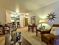 1 Bedroom - Light & Open Living Room & Dining Area