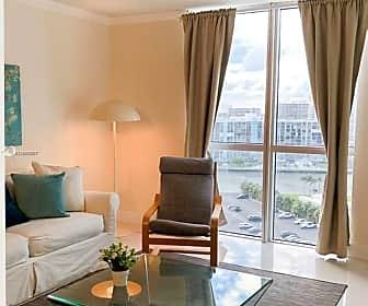 Living Room, 3801 S Ocean Dr 14W, 0