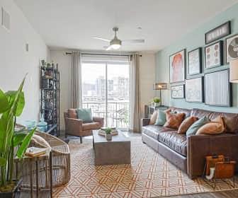 Living Room, Steel Works Apartments, 0