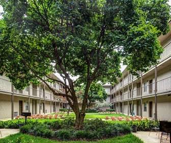 Courtyard, Canterbury Apartments, 0