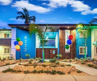 Community Signage, Island Apartments, 0