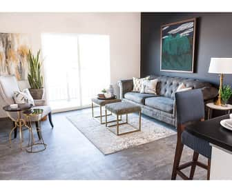 Living Room, Trail's Bend Apartments and Townhomes, 0