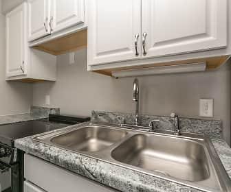 Kitchen, Woodgate Apartments, 0