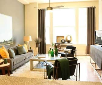 Living Room, The Edison Apartments, 0