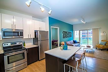 Kitchen, Fuse Apartments - Per Bed Lease, 0