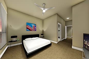 Bedroom, The Flats on Archer, 2
