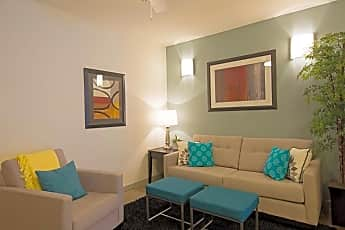 Living Room, The Square Apartments, 0