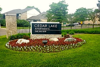 Community Signage, Cedar Lake Apartments, 0