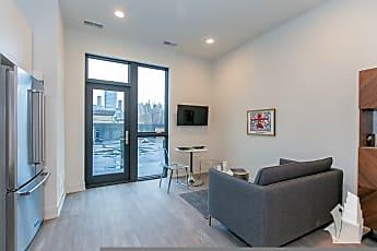 Living Room, 853 N Larrabee, Unit 404,, 2