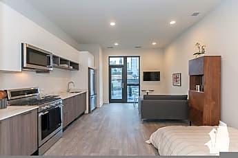 Living Room, 853 N Larrabee, Unit 404,, 1