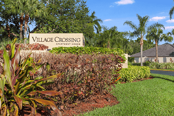 Community Signage, Village Crossing Apartments, 0