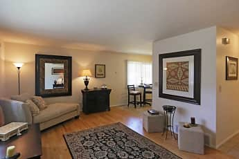 Living Room, Bradley Place Townhomes, 1