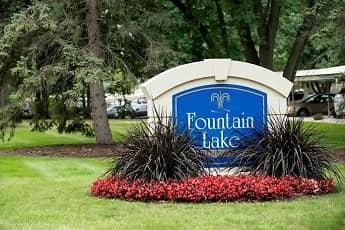 Community Signage, Fountain Lake Apartments, 0