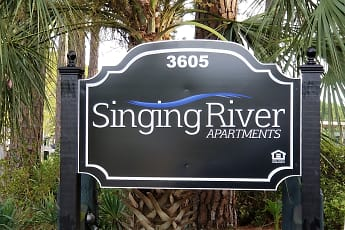 Community Signage, Singing River Apartments, 0