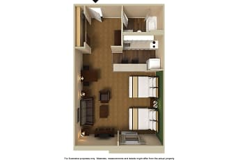 Furnished Studio - Houston - Northwest, 2