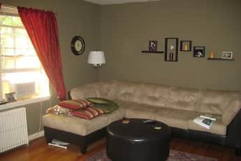 Living Room, Highland Village Apartments, 2